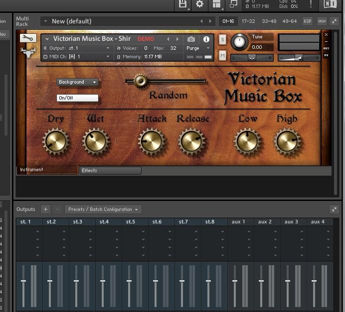 フリープラグインのオルゴール音源「Victorian Music Box」を使ってみた