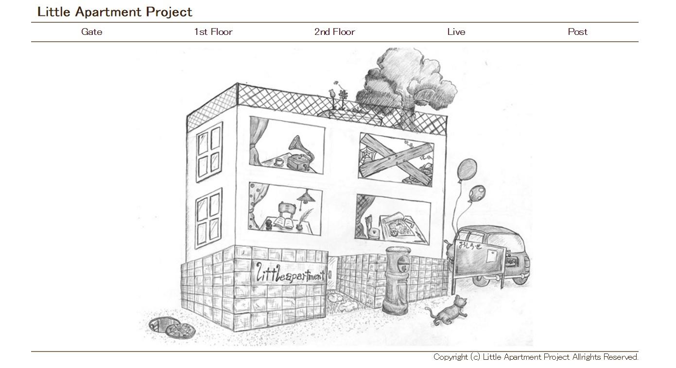 静岡発のディストロ【Little Apartment Project】のHPが完成しました。