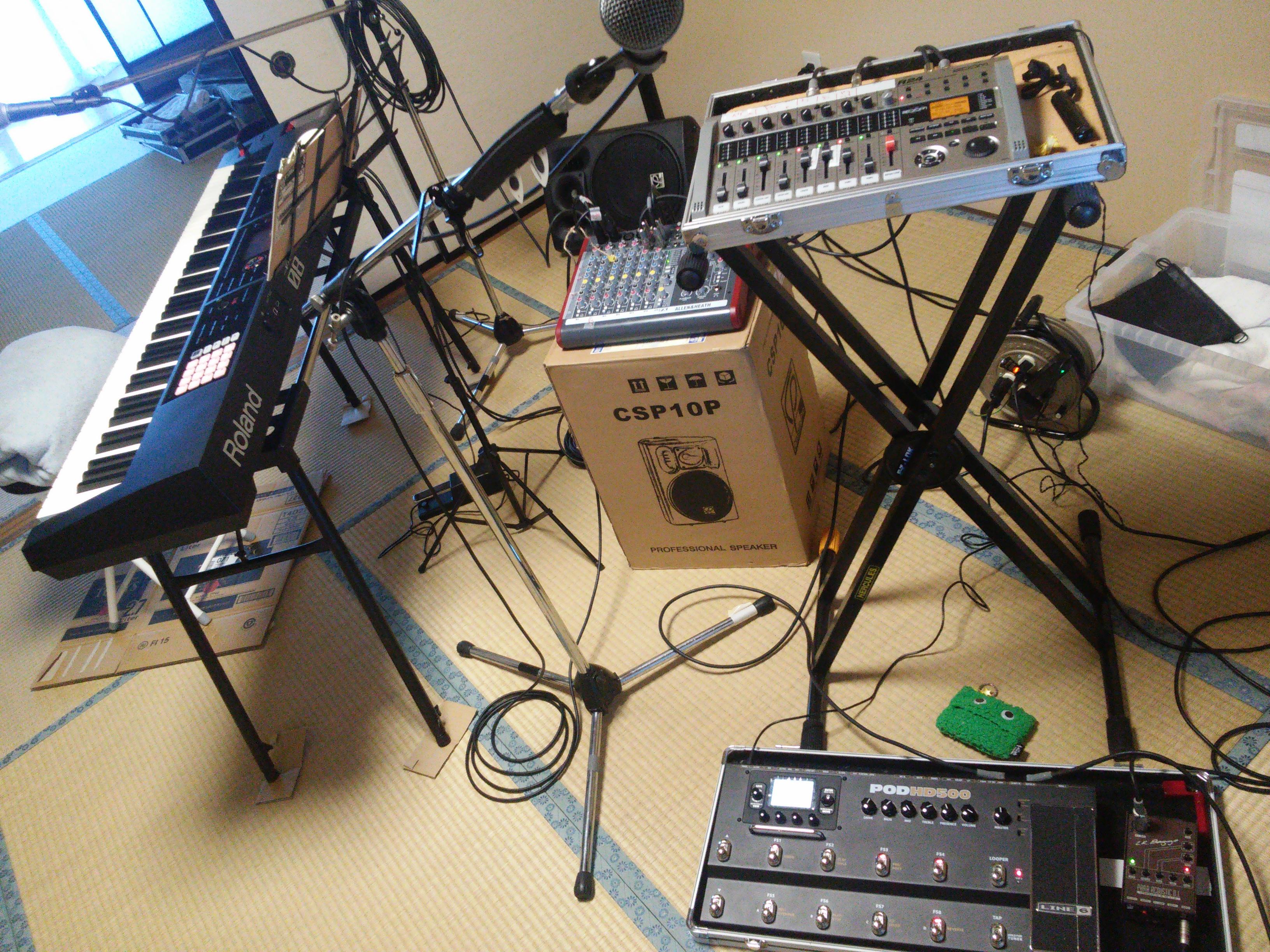 DTMer兼バンドマンがライブ時の機材を晒します